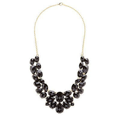 Faceted Stone Bib Necklace