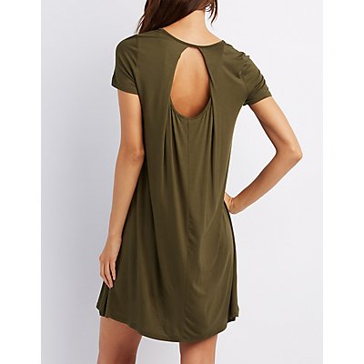 Open-Back Shift Dress
