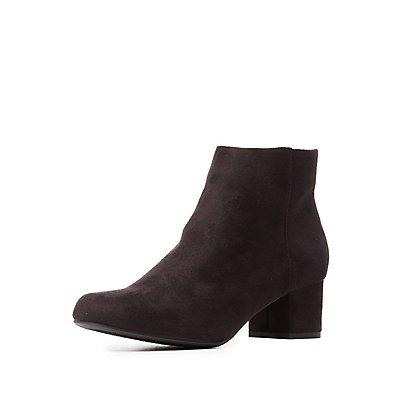 Low Block Heel Booties