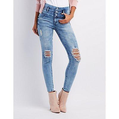 Refuge Hi-Waist Skinny Destroyed Jeans