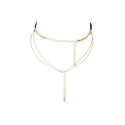 Chainlink & Laser Cut Choker Necklaces - 3 Pack