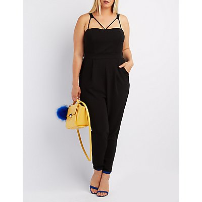 Plus Size Strappy Jumpsuit