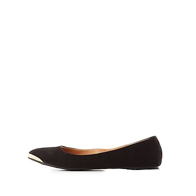 Qupid Almond Toe Flats