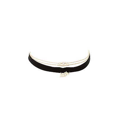 Leo Zodiac Choker Necklaces -3 Pack
