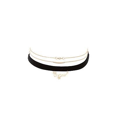 Scorpio Zodiac Choker Necklaces -3 Pack