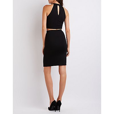 Lattice Crop Top & Pencil Skirt Hook-Up