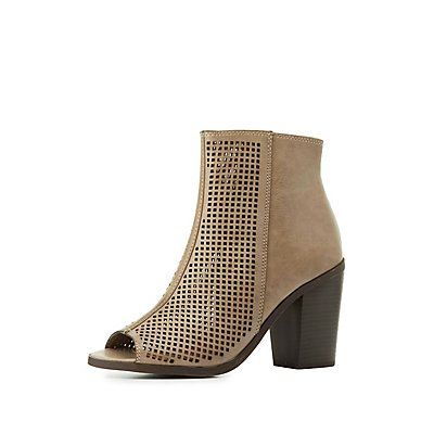 Laser Cut Ankle Booties
