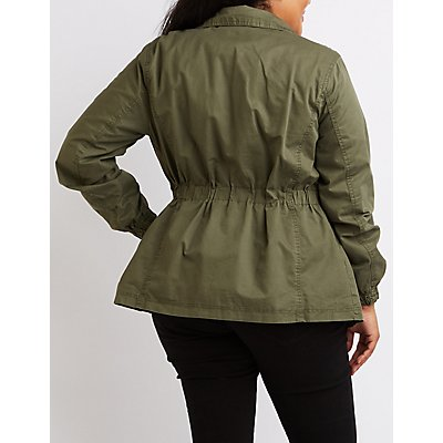 Plus Size Utility Anorak Jacket