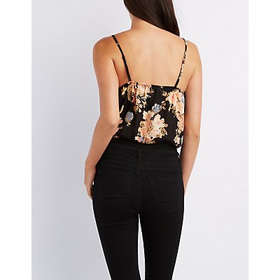 Floral Surplice Bodysuit