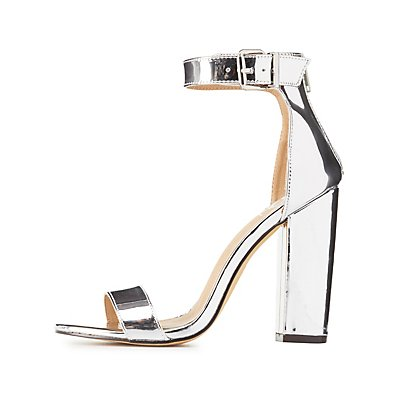 Metallic Two-Piece Dress Sandals