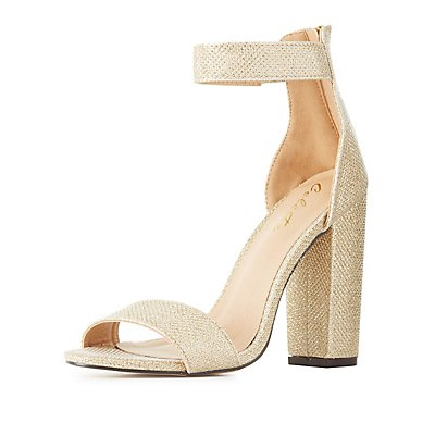 Shimmer Two-Piece Dress Sandals