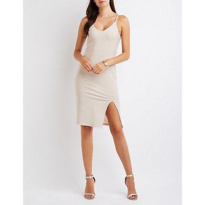 Caged-Back Shimmer Dress