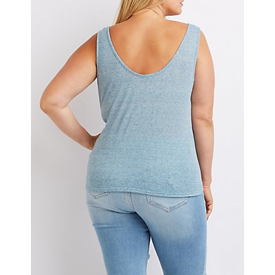 Plus Size Knotted Tank Top