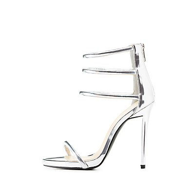 Qupid Tubular Two-Piece Dress Sandals