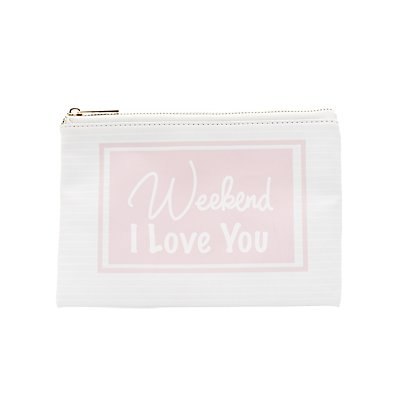 Weekend Printed Zip Pouch