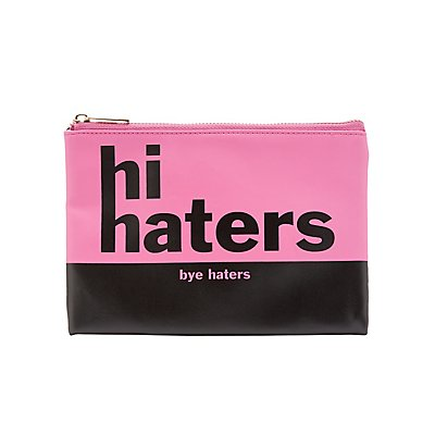 Haters Printed Zip Pouch