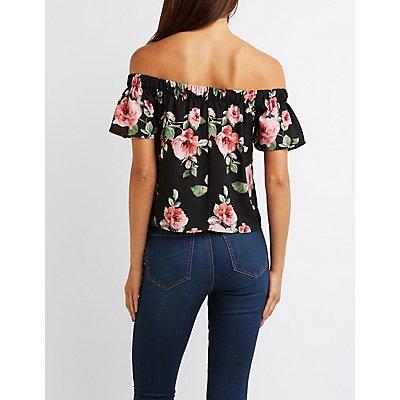 Floral Off-The-Shoulder Top