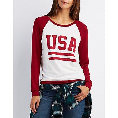 USA Ringer Sweatshirt