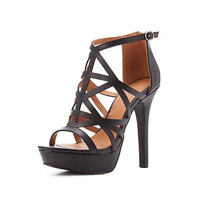 Caged Platform Dress Sandals