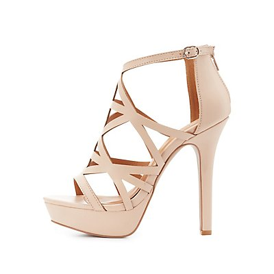 Caged Platform Dress Sandals