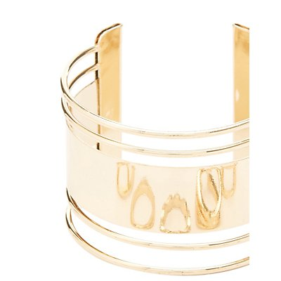 Caged Cuff Bracelet & Rings Set