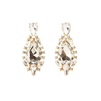 Oversize Gem Drop Earrings