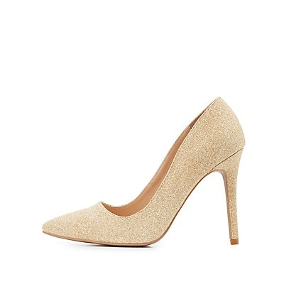 Shimmer Pointed Toe Pumps
