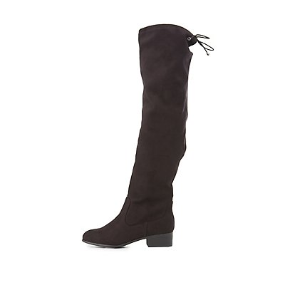 Tie-Back Knee-High Riding Boots
