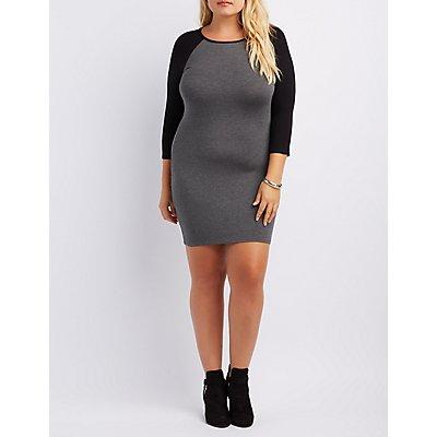 Plus Size Raglan T-Shirt Dress