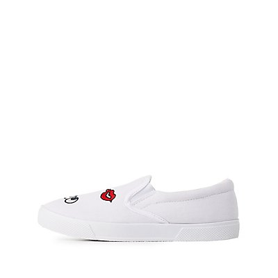 Patched Slip-On Sneakers