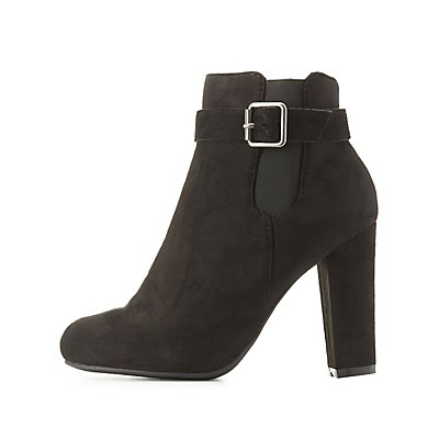 Bamboo Buckled Ankle Booties