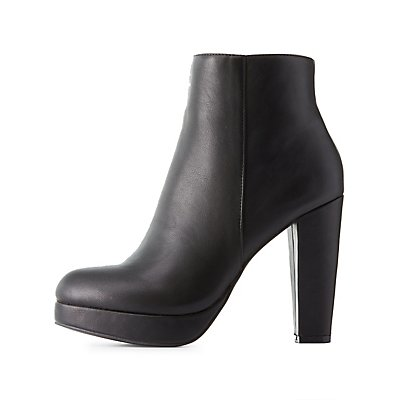 Bamboo Platform Ankle Booties