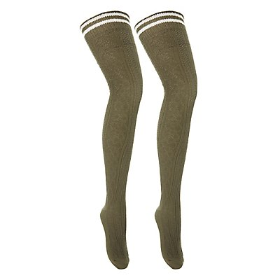 Varsity Stripe Over-The-Knee Socks