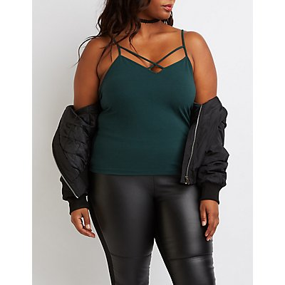 Plus Size Strappy Cami Tank Top