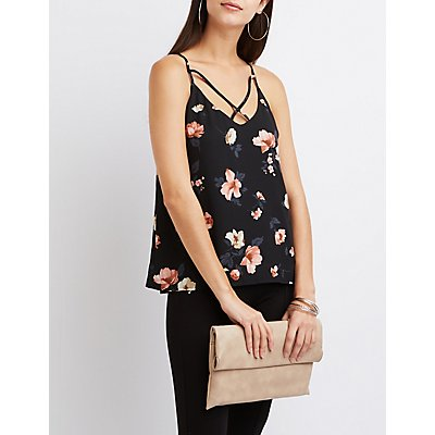 Floral Strappy Tank Top
