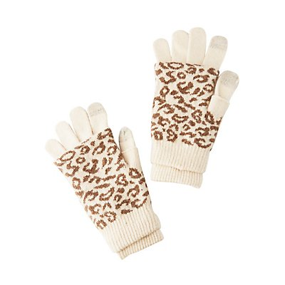 Leopard Layered Gloves