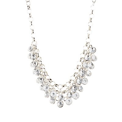 Faceted Rhinestone Bib Necklace