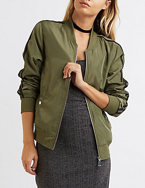 Striped Lightweight Bomber Jacket