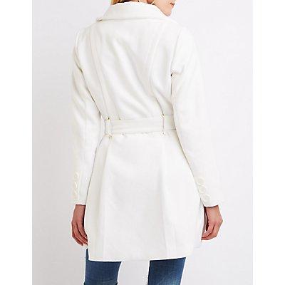 Wool Blend Swing Coat