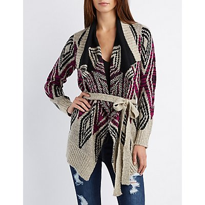 Tribal Cascade Belted Cardigan