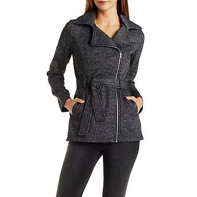 Belted Fleece Trench Coat