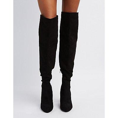 Tassel-Tie Over-The-Knee Boots