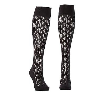 Pointelle Knee-High Socks