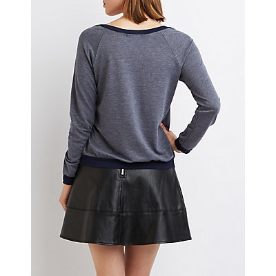 Ringer Pocket Sweatshirt