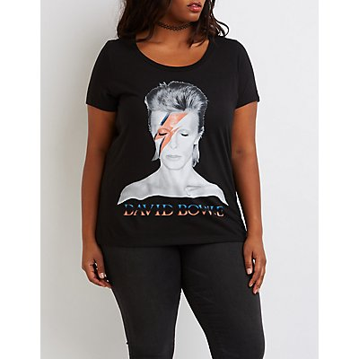 Plus Size David Bowie Graphic Tee