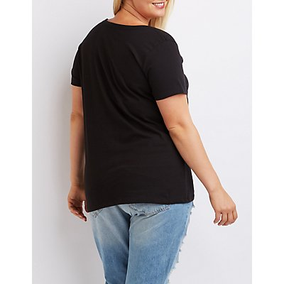 Plus Size Bieber Graphic Tee