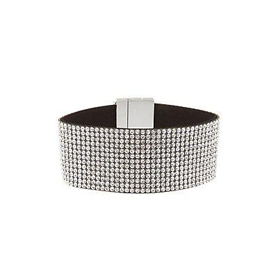 Rhinestone Buckle Cuff Bracelet