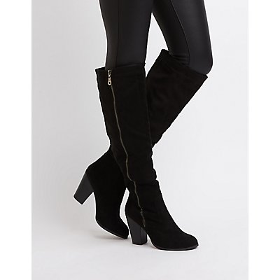Side Zip Over-The-Knee Boots
