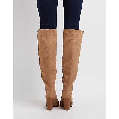 Side Zip Over-The-Knee Boots