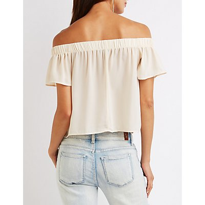 Fluttery Off-The Shoulder Top
